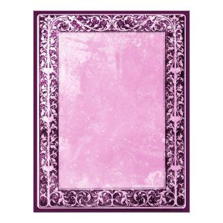 Leaf and Vine Border Frame lavender chalky scraps Letterhead