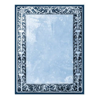 Leaf and Vine Border Scrap Booking Papers blue