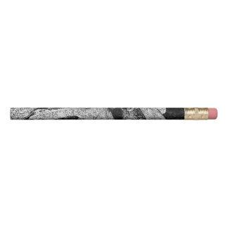 Leaf Art Black and White Pencil
