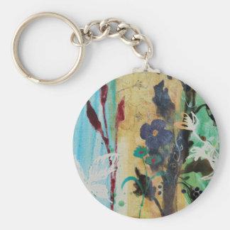 Leaf Berry Flower Keychain