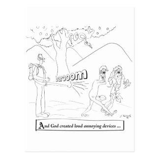 Leaf Blower Cartoon 9326 Postcard