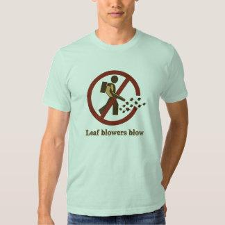 leaf blowers blow t-shirts