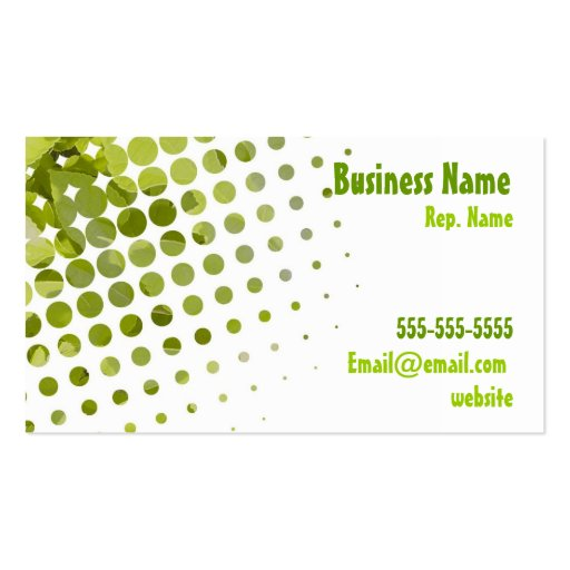 Leaf business card zazzle for Leaf business cards