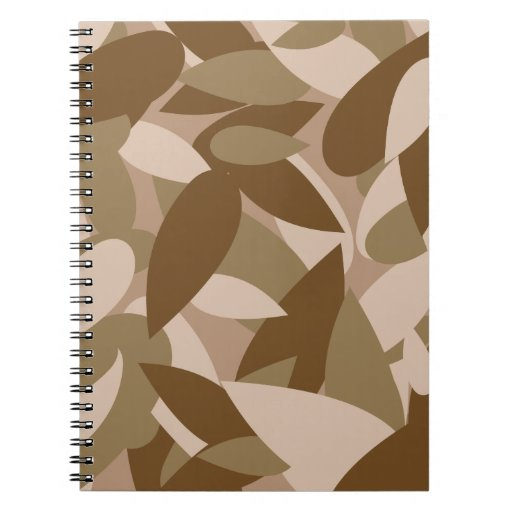 leaf camo spiral note books