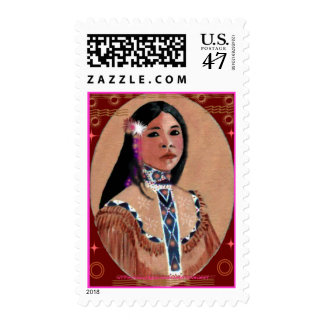 """Leaf, """"CAN WAPEl' a young Lakhotah woman Postage Stamp"""