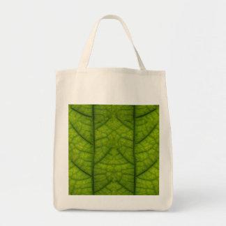 Leaf Closeup Vein Lines Photo Pattern Tote Bag
