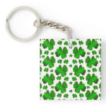 leaf, clover, luck, plant, green, shamrock, nature keychain