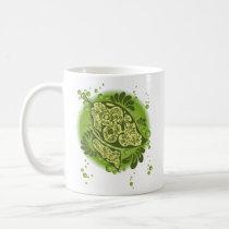 art, illustration, leaf, green, nature, graphic, design, pop, ecology, plants, flora, Mug with custom graphic design