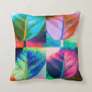Leaf Colors Throw Pillow