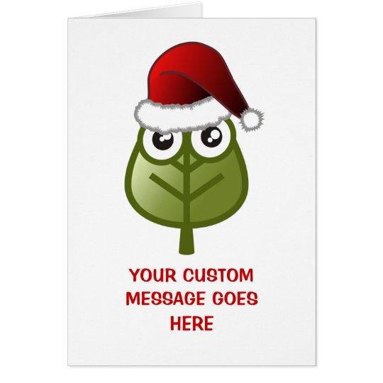 Leaf - Custom Christmas Message Card