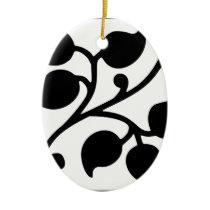 Leaf Design Ceramic Ornament