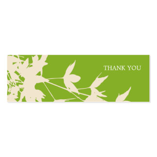 Leaf Design Colour: Green Double-Sided Mini Business Cards (Pack Of 20)