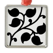 Leaf Design Metal Ornament