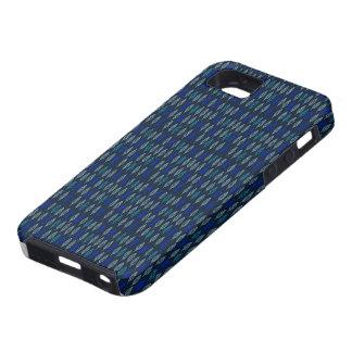 Leaf design on Blue Dark iPhone case iPhone 5 Covers