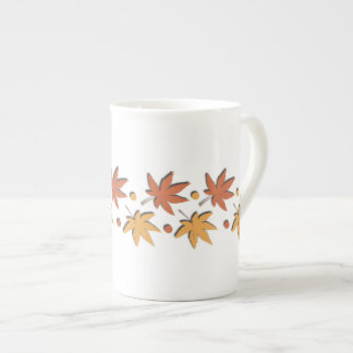Leaf Design Pattern ~editable background Tea Cup