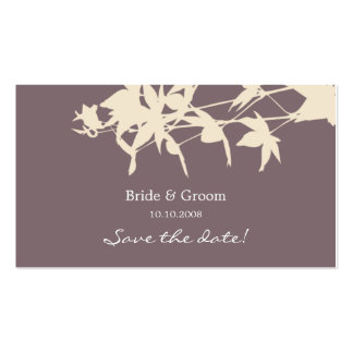 Leaf design Save the date smoke Business Card