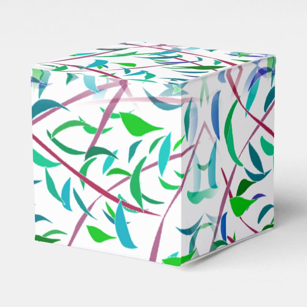 Leaf Designed Favor Box