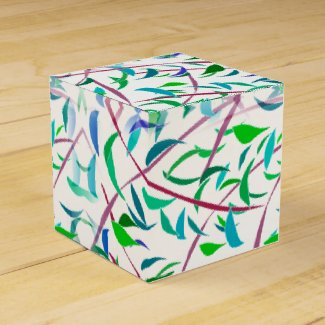Leaf Designed Favor Box