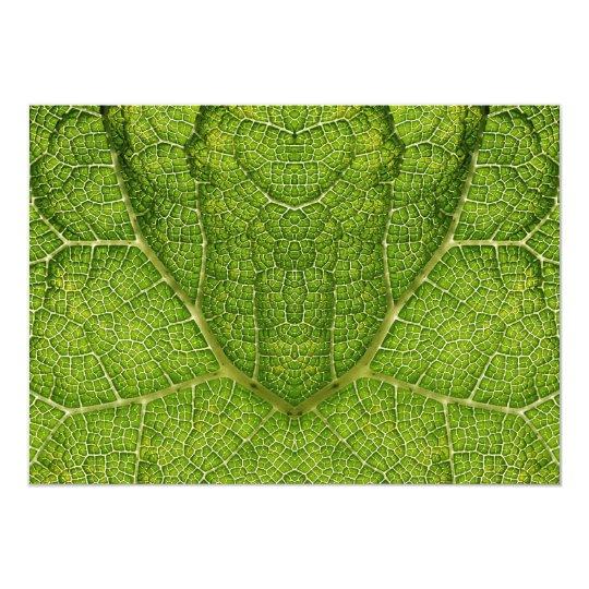 Leaf. Digital Art. Card