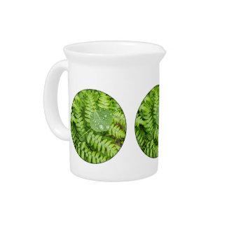 Leaf drops beverage pitchers