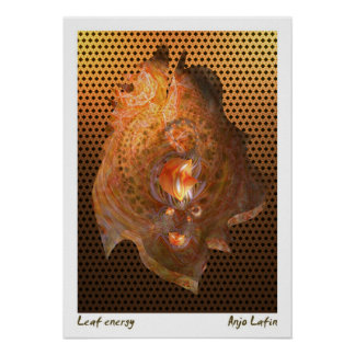 Leaf energy by Anjo Lafin Poster