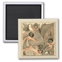 Leaf Faeries Mending Leaves Magnet
