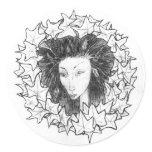 Leaf Fairy Sml Classic Round Sticker