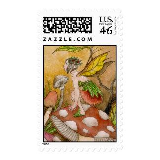 Leaf Fairy Stamp