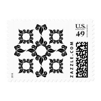 Leaf Floral Abstract Baroque Pattern Stamp