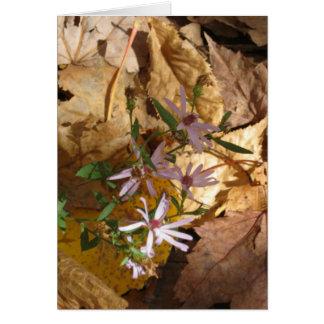 leaf & flower stationery note card