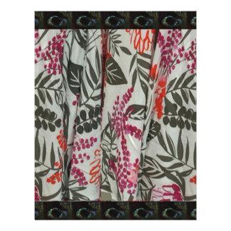 Leaf Flowers Fabric Dress pattern template diy fun Letterhead
