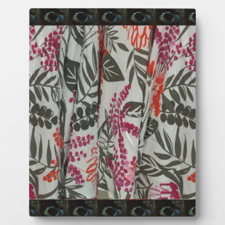 Leaf Flowers Fabric Dress pattern template diy fun Plaque