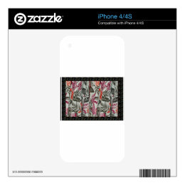Leaf Flowers Fabric Dress pattern template diy fun Skins For The iPhone 4