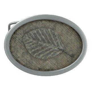 Leaf Fossil Belt Buckle