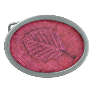 Leaf Fossil Oval Belt Buckle