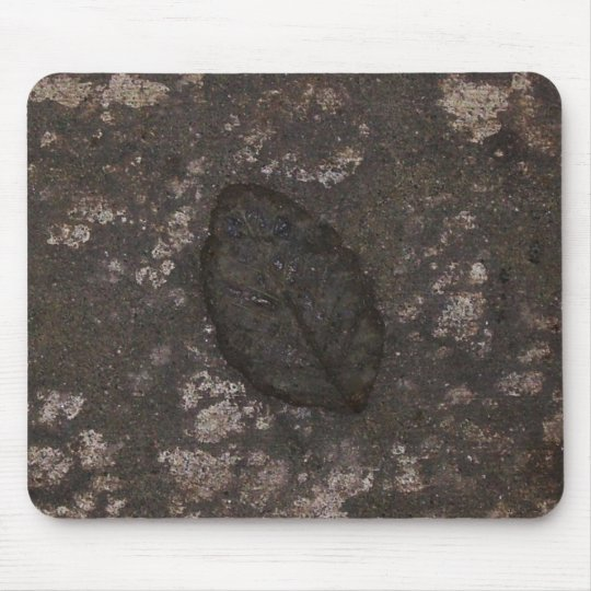 Leaf fossil mouse pad