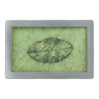 Leaf Fossil Rectangular Belt Buckle