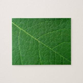 Leaf Green Close-up Photo Hard Jigsaw Puzzle