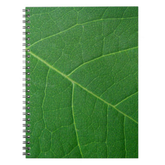 Leaf Green Close-up Photo Notebook