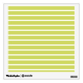 Leaf Green Horizontal Stripe Pattern Wall Decal