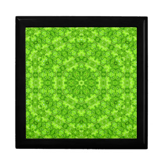 Leaf Green Kaleidoscope Jewelry Box
