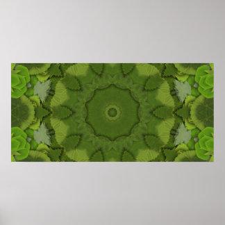 Leaf Green Kaleidosope Poster