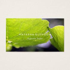 Leaf Green Nature Zen Business Card at Zazzle