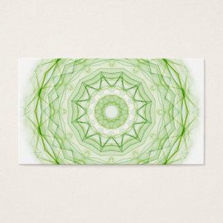 Leaf Green Spiderweb Business Card