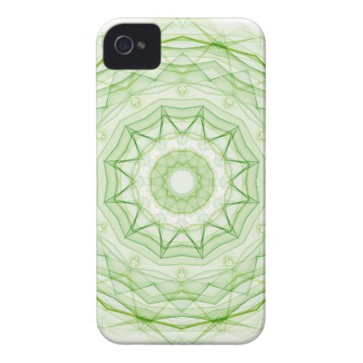 Leaf Green Spiderweb iPhone 4 Cover