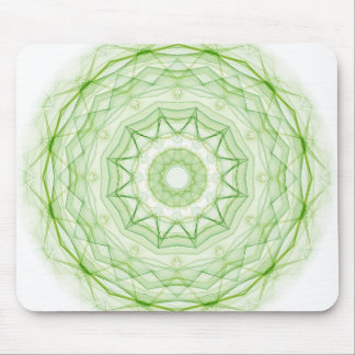 Leaf Green Spiderweb Mouse Pad