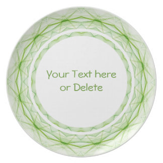 Leaf Green Spiderweb Plates