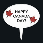 "Leaf Happy Canada Day Cake Topper<br><div class=""desc"">Leaf Happy Canada Day Cake Topper.</div>"