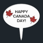 """Leaf Happy Canada Day Cake Topper<br><div class=""""desc"""">Leaf Happy Canada Day Cake Topper.</div>"""