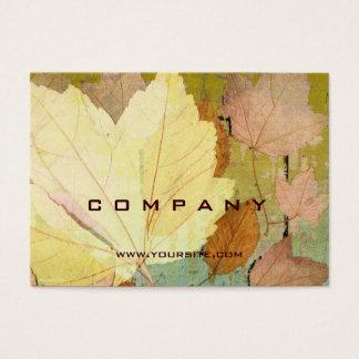 Leaf Harmony Orange Yellow Green Business Card